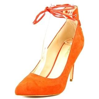 Nine West Ebba Women Pointed Toe Leather Orange Heels