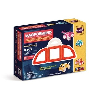 Magformers My First Buggy, Red 14-Piece Building Set