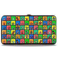 Megaman 8 Bit Character Multi Color Blocks Hinged Wallet - One Size Fits most