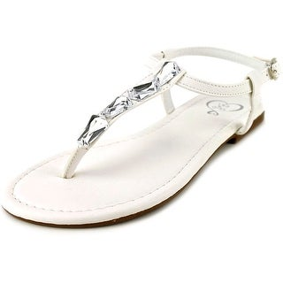 143 Girl Pivari Women  Open Toe Synthetic White Thong Sandal