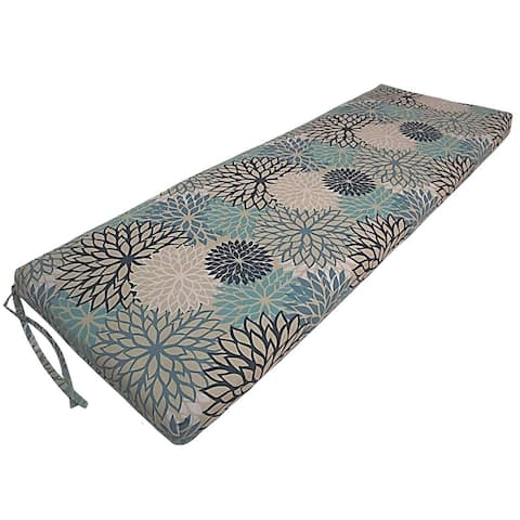 Zinna Blue Indoor/Outdoor Bench Cushion