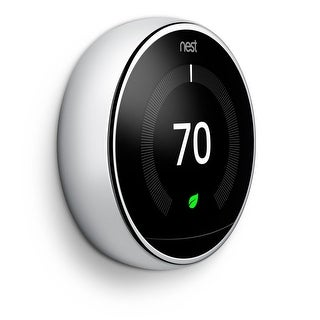 Nest Learning Thermostat Polished Steel 3rdGeneration - Polished Steel (Polished Steel)