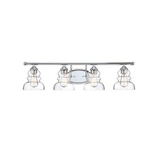 "Millennium Lighting 7334 Brighton 4 Light 33"" Wide Bathroom Vanity Light with Glass Shades"