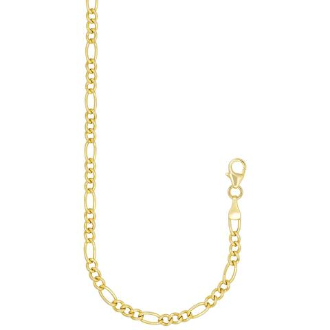 """Forever Last 10 K Gold Bonded over Silver 20""""Figaro Chain Necklace"""