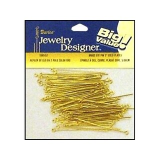 "Darice JD Eye Pin 2"" Gold Plated 60pc"