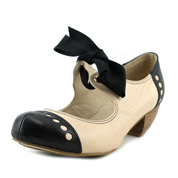 All Black Soft Bow 2 Women Round Toe Leather Mary Janes