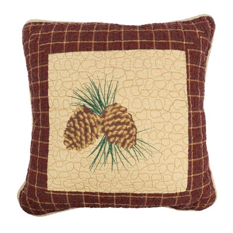 Donna Sharp Pine Lodge Pine Cone Decorative Pillow