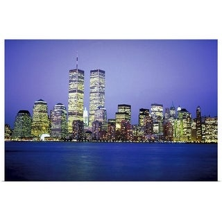 """New York City skyline with World Trade Center"" Poster Print"