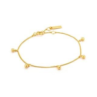 "Orbit Drop Balls Bracelet - Shiny Gold - 5.8"""