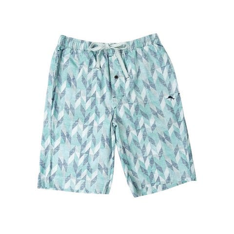 7390eb0623 Tommy Bahama Men's Arrows Woven Pajama Shorts (S, Grey Multi) - Grey Multi