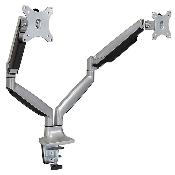 Mount-It! Dual Monitor Adjustable Arm Desk Mount Silver