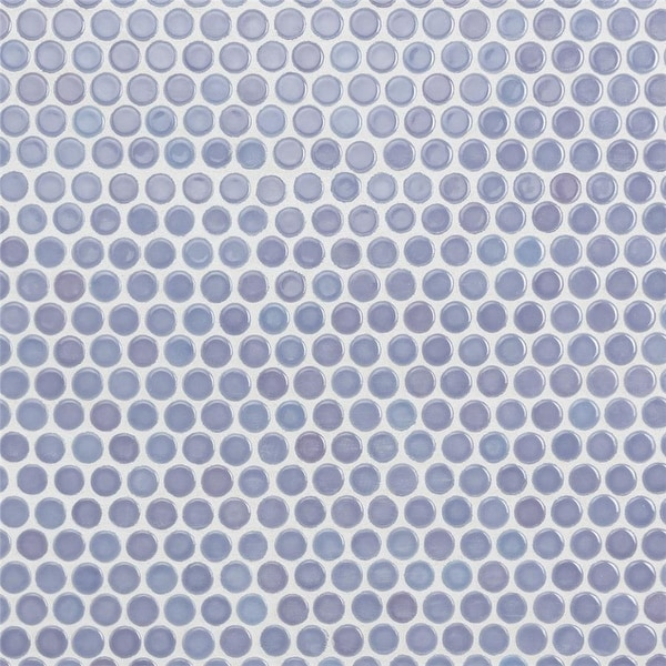 SomerTile 12x12.625-inch Penny Lavender Porcelain Mosaic Floor and Wall Tile (10 tiles/10.74 sqft.). Opens flyout.