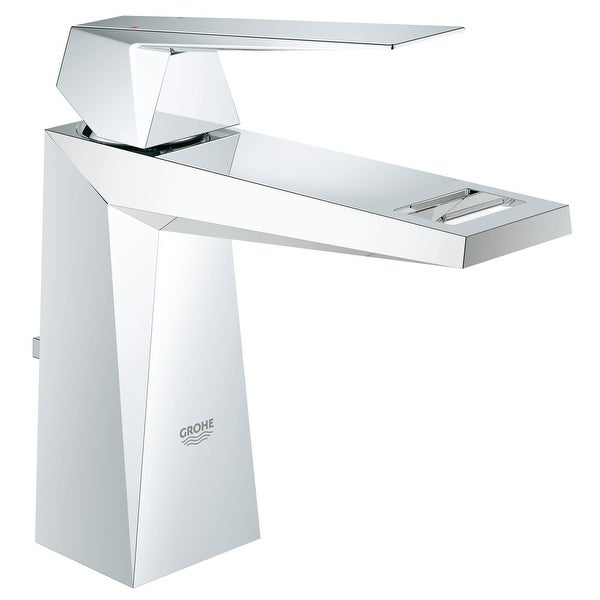Grohe 23 034 A Allure 1.2 GPM Brilliant Single Hole Bathroom Faucet with SilkMove and QuickFix Technologies - Starlight Chrome