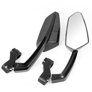 Unique Bargains Pair Carbon Fiber Prints Plastic Casing Motorbike Rearview Blind Spot Mirrors