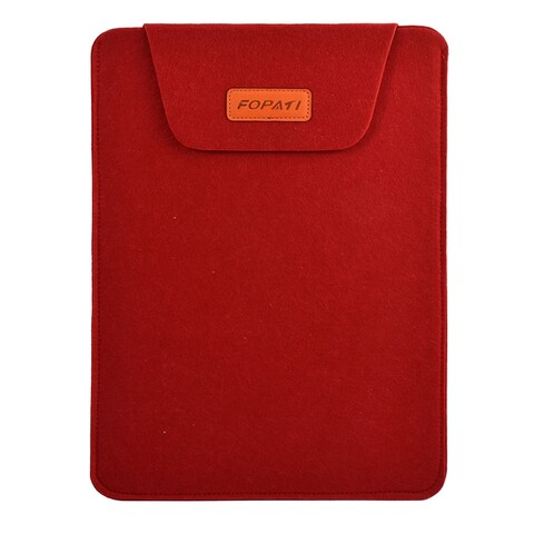 13.3 Wool Felt Protective Notebook Laptop Sleeve Bag for Tablet PC Red