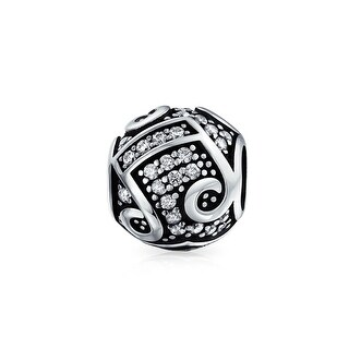Bling Jewelry 925 Silver CZ Sweet Melody Bead Charm