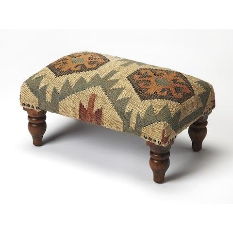 Handmade Berino Jute Ottoman Footstool (India)