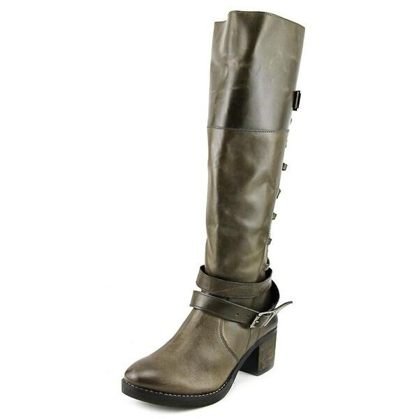 Report Jadon Round Toe Leather Knee High Boot