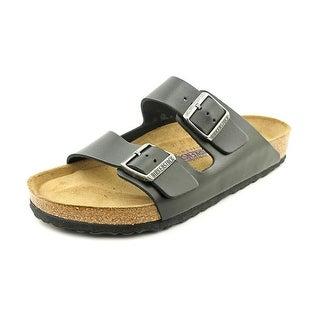 Birkenstock Arizona Men Open Toe Leather Black Slides Sandal