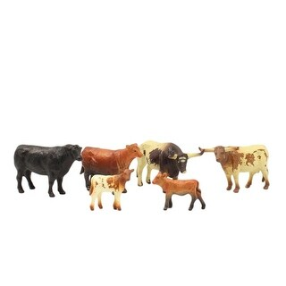 M&F Western Toys Cattle Cow Calf Play Set 6 piece