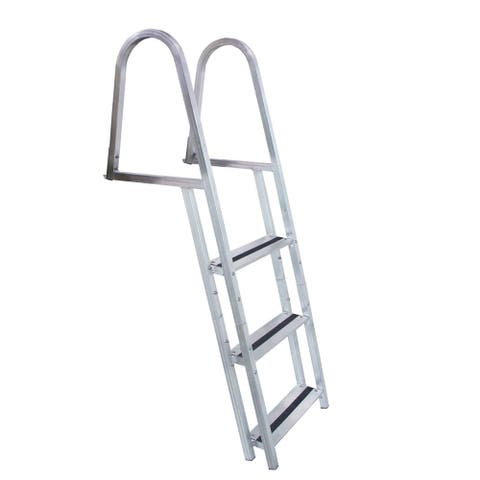 Dock edge stand-of aluminum 3 step ladder w/ quick release