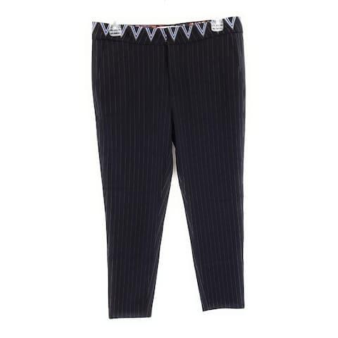 Desigual Stripe Patterned Trousers, Black, Y