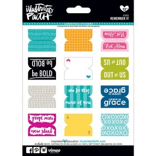 """Illustrated Faith Genesis Stickers 5""""X7""""-Remember It"""