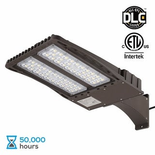 150W LED Parking Lot Light with Photocell Arm Mount Area Flood Light