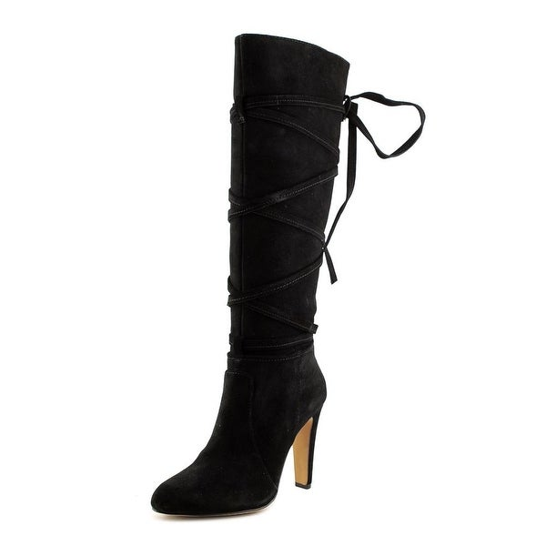 Vince Camuto Millay Women Round Toe Suede Black Knee High Boot