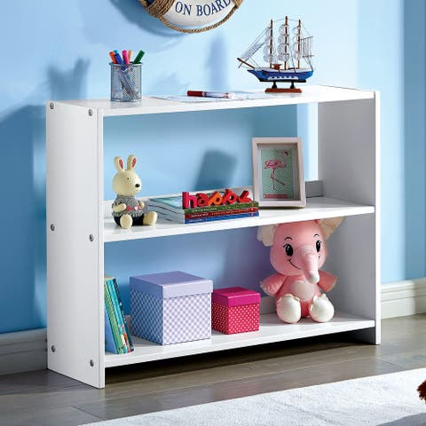 Furniture of America Sosa Transitional White Bookshelf
