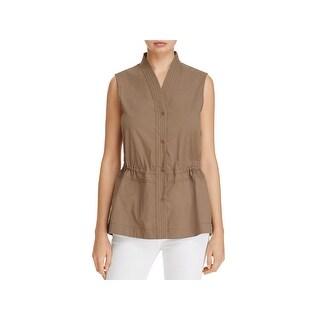 Nic + Zoe Womens Casual Vest Safari Sleeveless