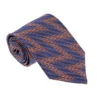 Missoni U3600 Blue/Orange Flame Stitch 100% Silk Tie - 60-3
