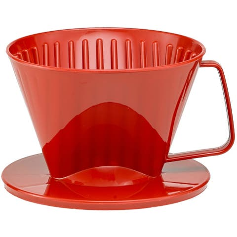 Harold Import 2661RD Coffee Filter Cone, Red