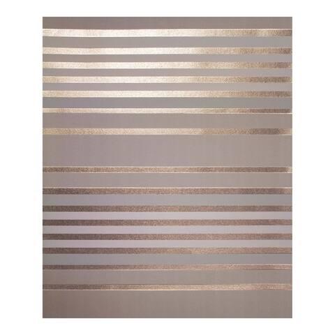 Mayfair Rose Gold Metallic Stripe Wallpaper - 20.5 x 396 x 0.025