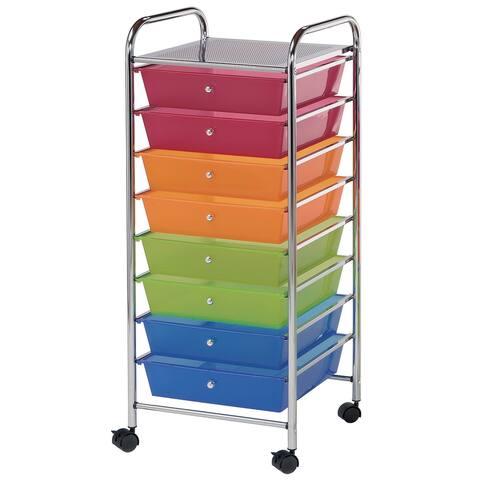 Alvin sc8mc-12 storage cart 8-drawer (wide) multi-colored