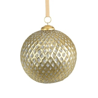 """Link to 6"""" Beehive Glass Ball Ornaments, Set of 2 Similar Items in Christmas Decorations"""