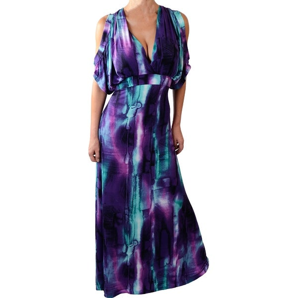 Funfash Plus Size Women Sexy Black Purple Long Maxi Dress Made in USA