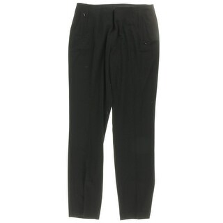 T Tahari Womens Bayleigh Casual Pants Faux Back Pockets Hidden Side Zipper