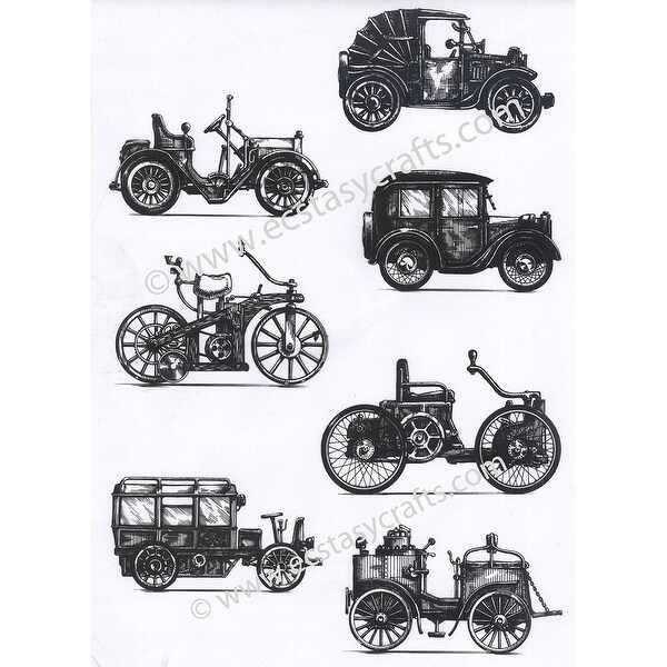 Joy! Crafts Clear Stamps-Retro Cars
