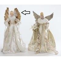 "18"" Graceful Golden Angels Christmas Tree Topper - Unlit - Gold"