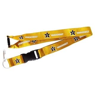Vanderbilt Commodores Lanyard Keychain Badge Holder NCAA - Yellow
