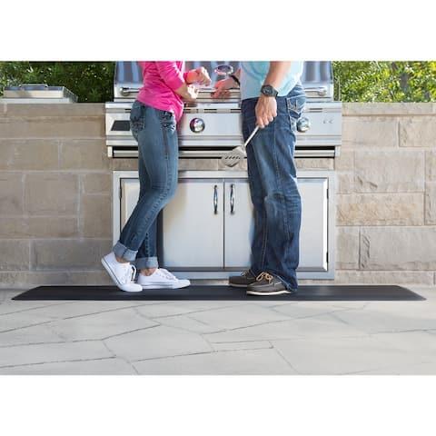 NewLife By GelPro Comfort Runner Floor Mat 20x72 Leather Grain Black - 1'8 x 6'