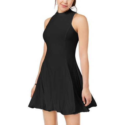 The Edit Womens Juniors Party Dress Cut-Out Halter - S