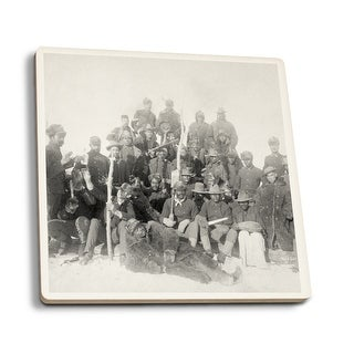 Black Buffalo Soldiers 25th Infantry Vintage Photo (Set of 4 Ceramic Coasters)