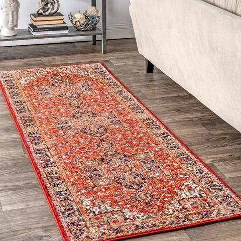 Copper Grove Vardenis Traditional Indoor/ Outdoor Bloom Border Area Rug