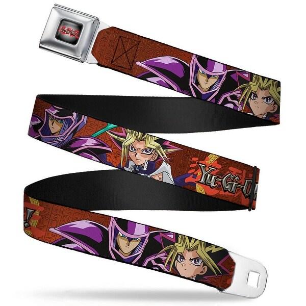 Yu Gi Oh! Logo Full Color Gray Fade Red Yu Gi Oh! Dark Magician & Yugi Seatbelt Belt