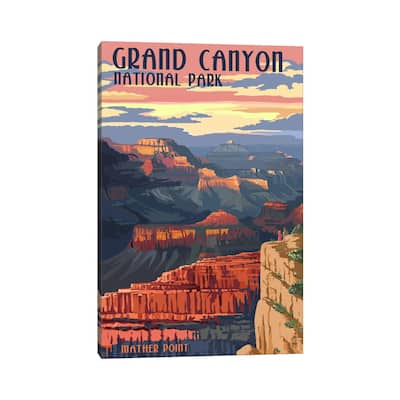 """iCanvas """"Grand Canyon National Park (Mather Point)"""" by Lantern Press Canvas Print"""