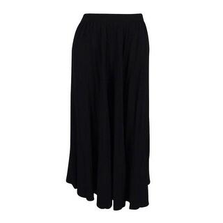 Calvin Klein Women's Petite Solid Pleated Skirt