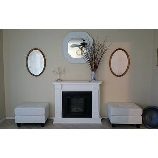 Real Flame Silverton Electric Fireplace White