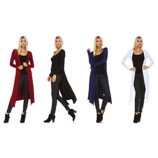 Isaac Liev Extra Long Open Front Flyaway Cardigan